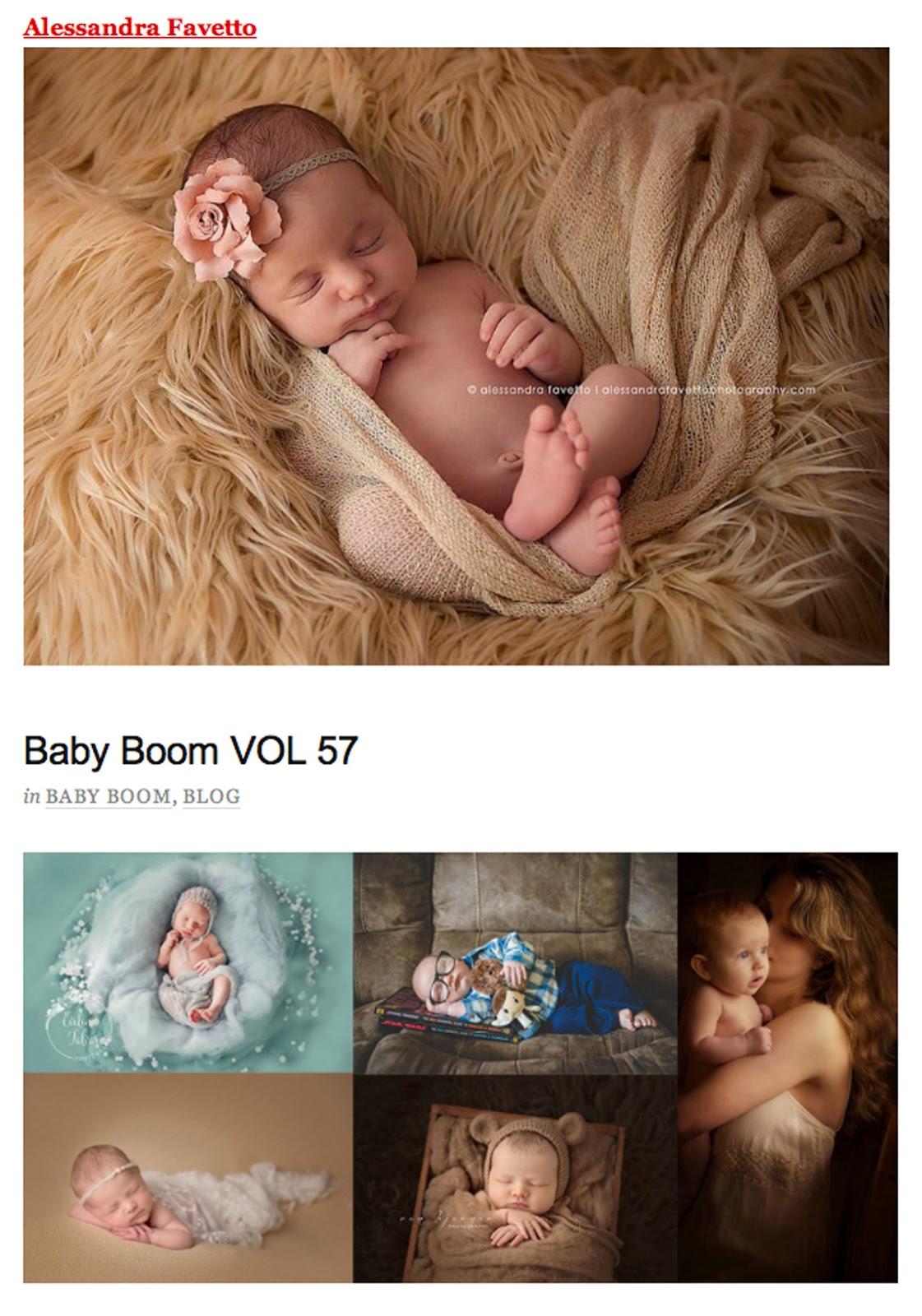"""Que alegría recibir un pequeño reconocimiento a mi trabajo de fotógrafa de recién nacidos :-)) Una de mis fotos, la de la pequeña Julia, ha sido incluida en la colección """"Baby Boom Vol.57""""."""