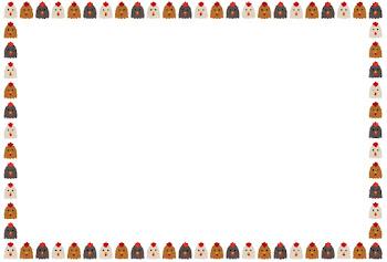 鶏のフレーム素材(横)