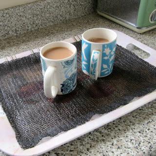 non-slip material on tea tray