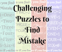 More Puzzles to Find the Mistake in Picture