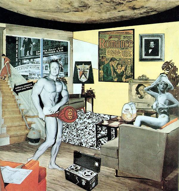 Richard Hamilton, ¿Qué es lo que hace que los hogares de hoy  tan diferentes, tan atractivos?,  collage 1956 (creartehistoria)