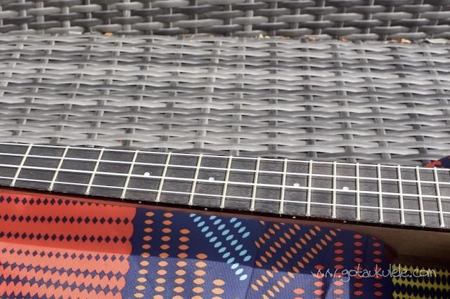 Duke 10 Banjo Ukulele fingerboard