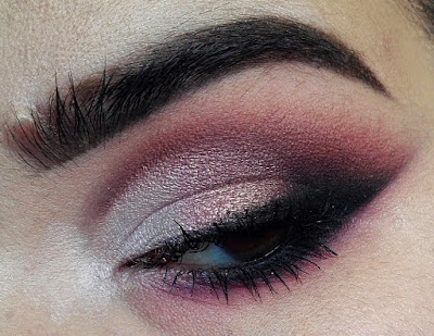 Half Purple Cut Crease and Faux Freckles