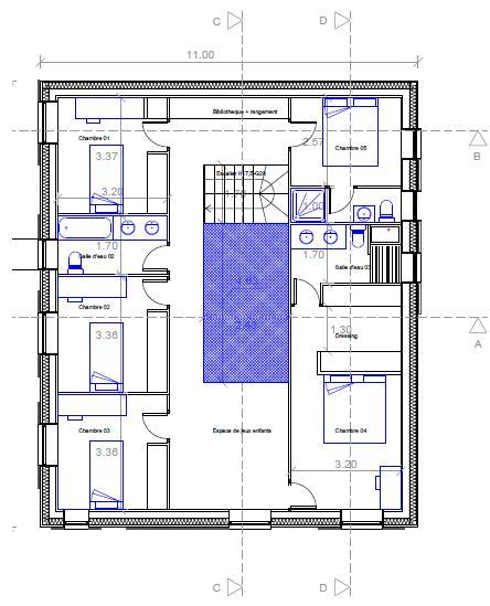 maison passive au pays basque plans de la maison rez de chauss e et etage. Black Bedroom Furniture Sets. Home Design Ideas
