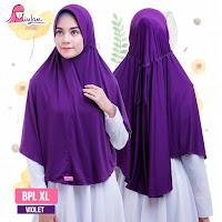 hijab instan syari bergo jumbo bpl xl plain laura kunyit kerudung miulan hijab