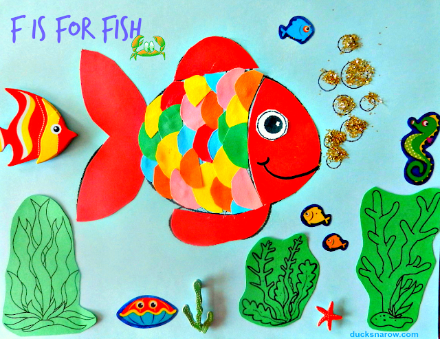 preschool, alphabet, fish, kids crafts, preschool crafts