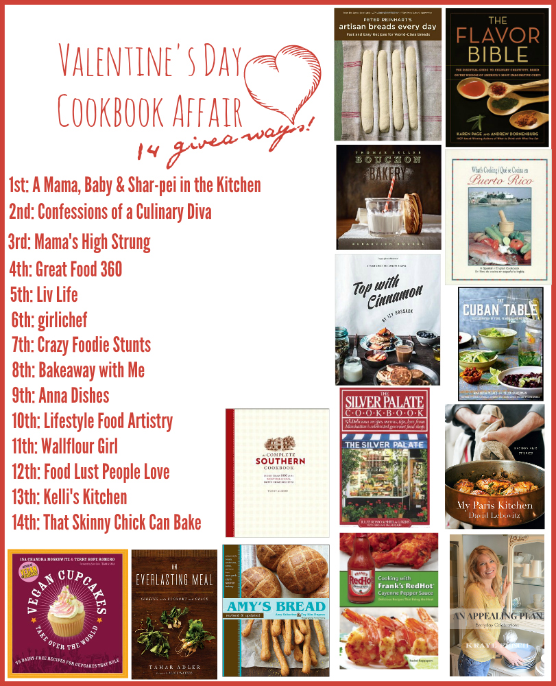 A Valentine's Day #cookbookaffair event!