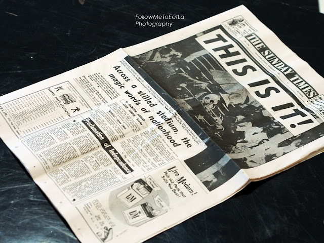 REPRINT OF NEW SUNDAY TIMES ~ 31ST AUGUST 1957