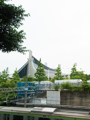 Yoyogi National Stadium Gymnasium No.1 from the west, Tokyo.
