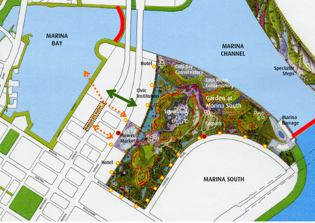 Map of Gardens by the Bay