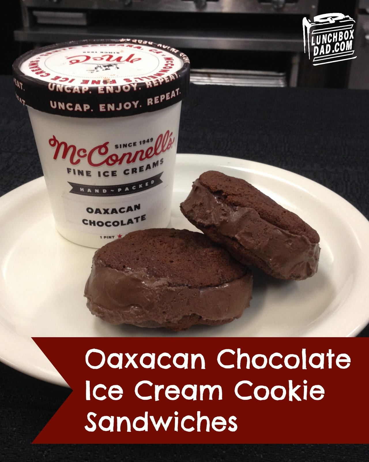 McConnell's Oaxacan Chocolate Ice Cream Cookie Sandwich