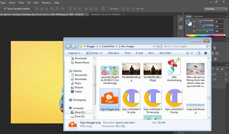 2 Cara Memasukkan Gambar Ke Photoshop Yang Mudah Contohtext