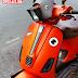 Mẫu sơn xe Vespa S màu cam nhám thể thao [Vespa_101]