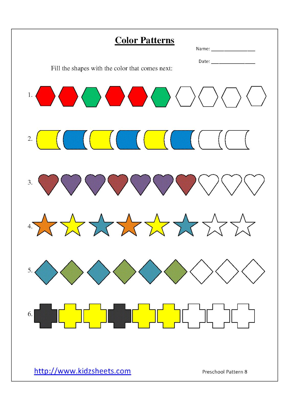 Patterning Preschool Worksheets. Patterning. Best Free ...