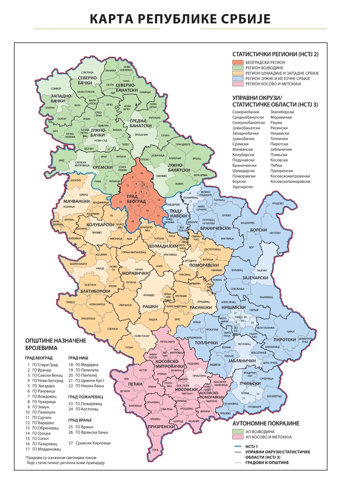 Programiranje Karta Republike Srbije