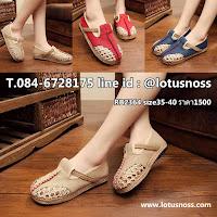 รองเท้าเพื่อสุขภาพ แฟชั่นเกาหลีผ้าลินินทอมือนุ่มสบาย นำเข้า ไซส์35ถึง40 พรีออเดอร์RB2364 ราคา1500บาท