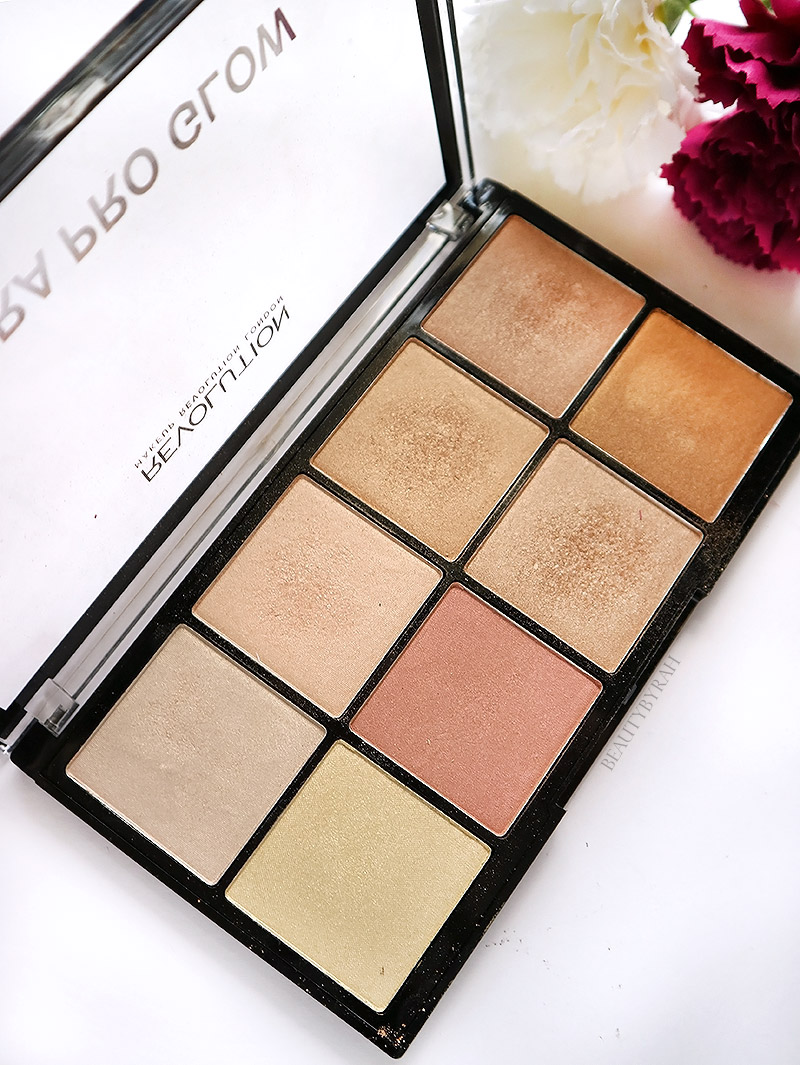 Makeup Revolution Ultra Pro Glow Palette swatches