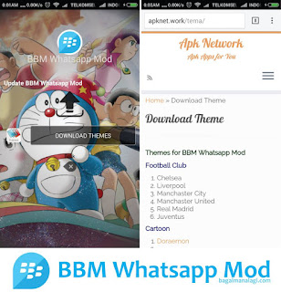 Free Download BBM WHATSAPP MOD CHANGE THEME AND CHANGE TOOLBAR COLOR