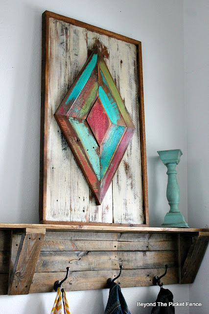 diamond art made from barn wood