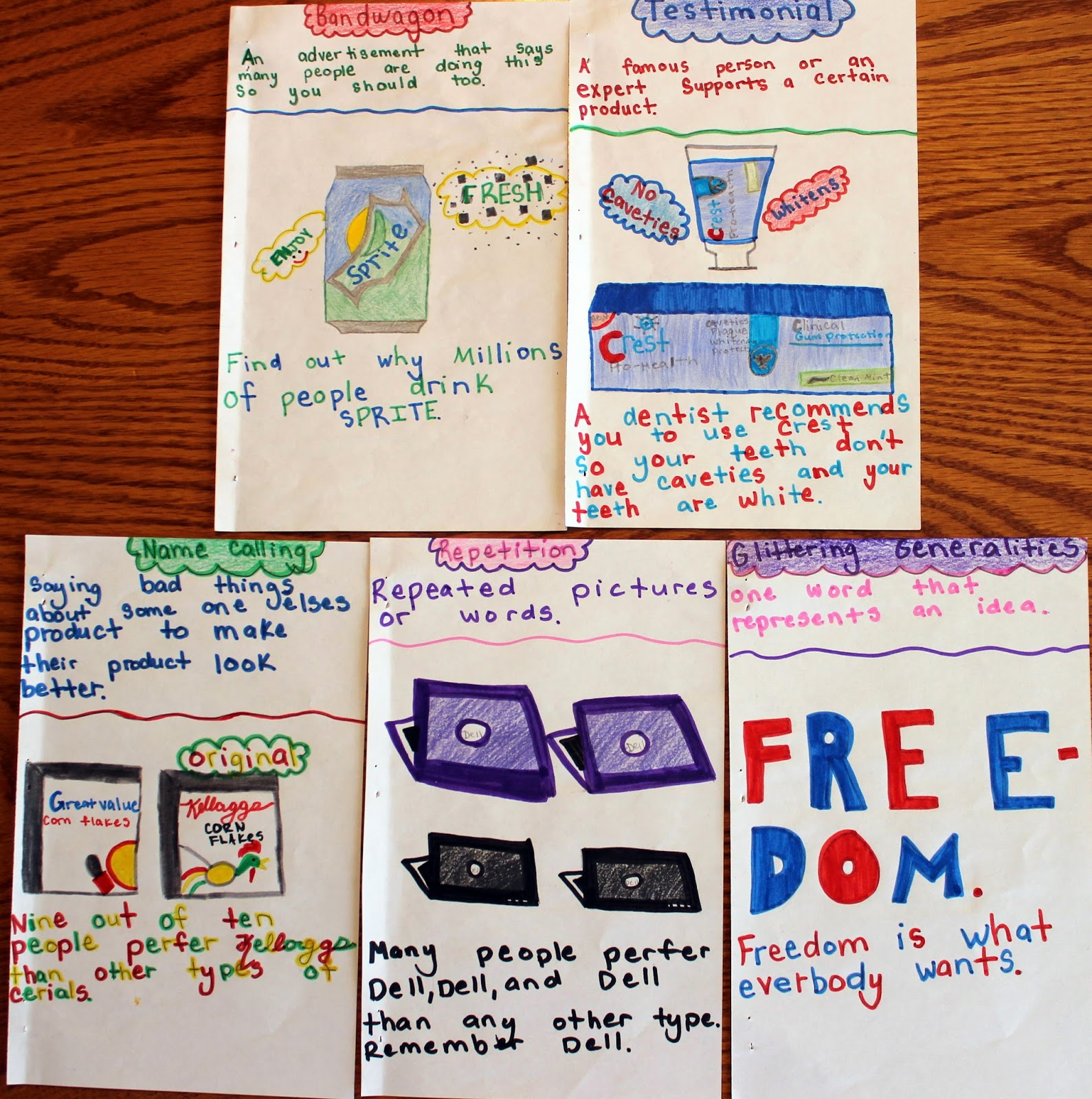 Upper Elementary Snapshots Advertising Techniques A Project