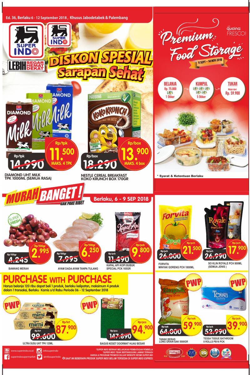 Superindo - Promo Katalog Pesta Diskon Ulang Tahun Periode 06 - 09 September 2018