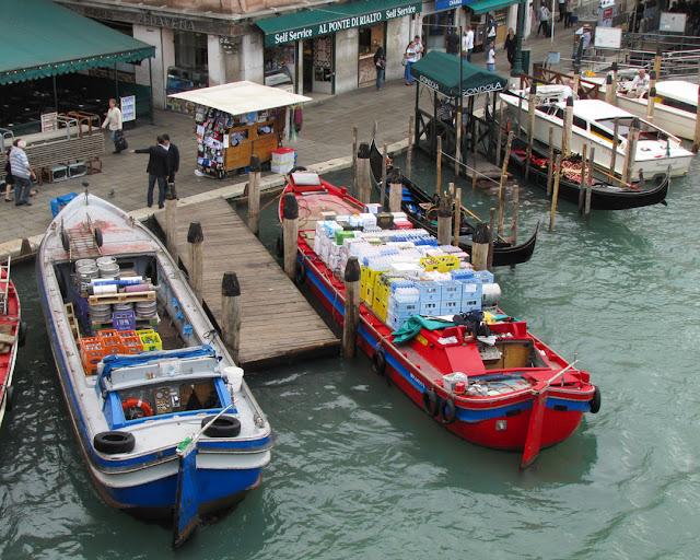 Riva del Ferro seen from the Rialto Bridge, Grand Canal, Venice