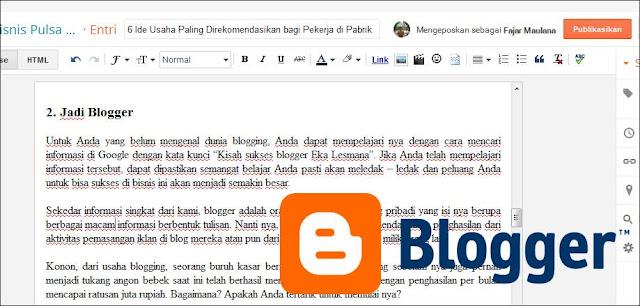 Ngeblog adalah sebuah bisnis sekaligus pekerjaan