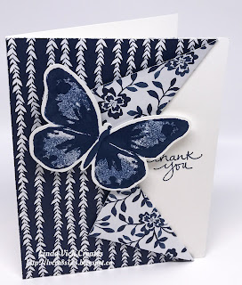 Linda Vich Creates: 2017 Catalog Launch Prep Part 2: Second Prize. Peekaboo Pullback cards and handbag created with the Floral Boutique DSP and Watercolor Wings.
