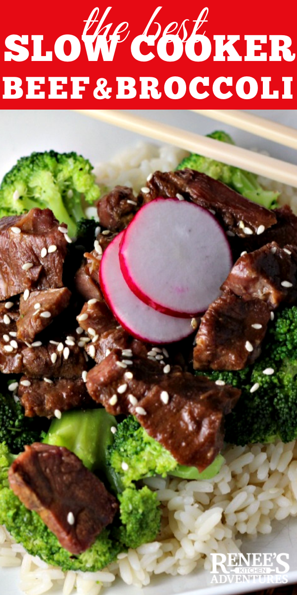 Slow Cooker Beef and Broccoli | by Renee's Kitchen Adventures  pin