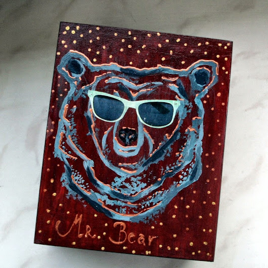 Mr. Bear with mint sunglasses