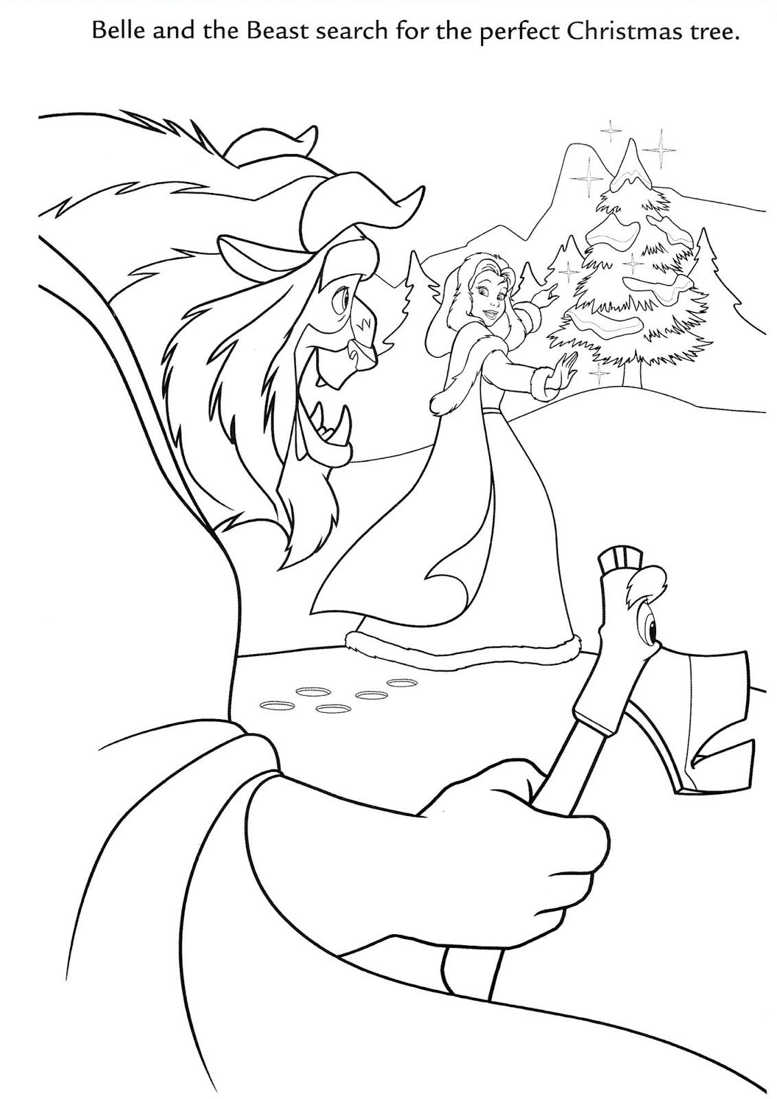 La Bella y la Bestia de Disney - Blog: Dibujos para colorear de Navidad