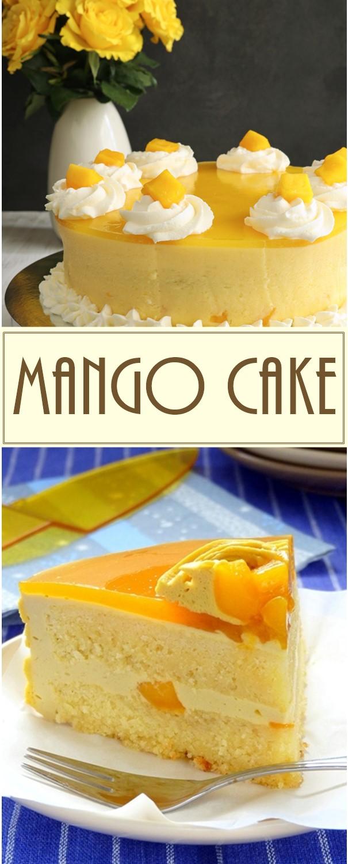MANGO CAKE #cakerecipes