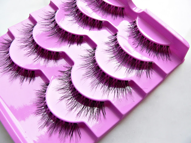 5 pcs. false eyelash set thick crisscross