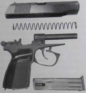 Неполная разборка пистолета Макарова-Плецкого-Шигапова ПММ-12