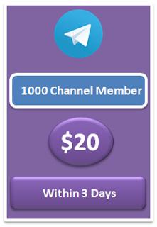 1000 telegram channel member