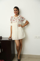 Lavanya Tripathi in Summer Style Spicy Short White Dress at her Interview  Exclusive 141.JPG