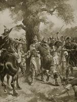 La ejecución de Edmundo por los guerreros daneses