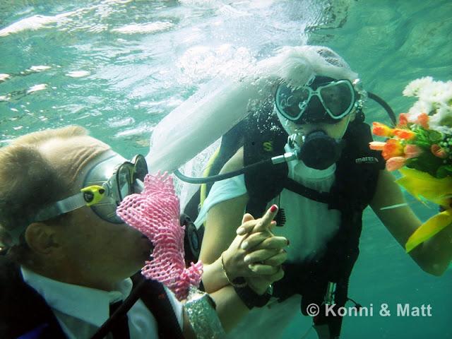 u/w wedding, philippines, scuba diving,