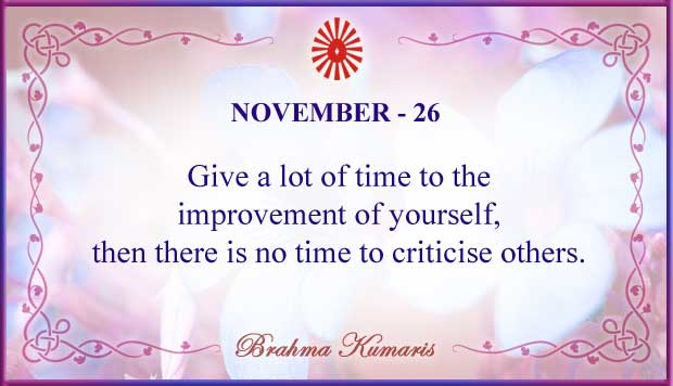 Thought For The Day November 26