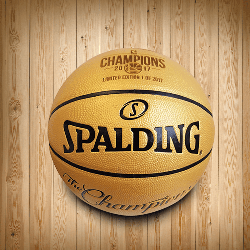 "Spalding ""NBA Champions"" Basketball signed by Steph Curry"
