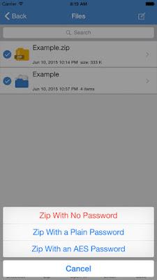 تطبيق مجانى مميز لإدارة وفك وضغط الملفات للايفون والايباد والايبود تاتش iZip - Zip Unzip Unrar Tool.11.4.iOS