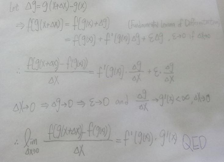 遠得要命的數學王國: Fundamental Lemma of Differentiation