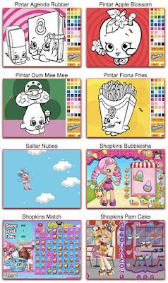 Juegos de Shopkins para pintar