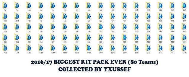 PES 2016 Biggest Kitpack Season 2016-2017