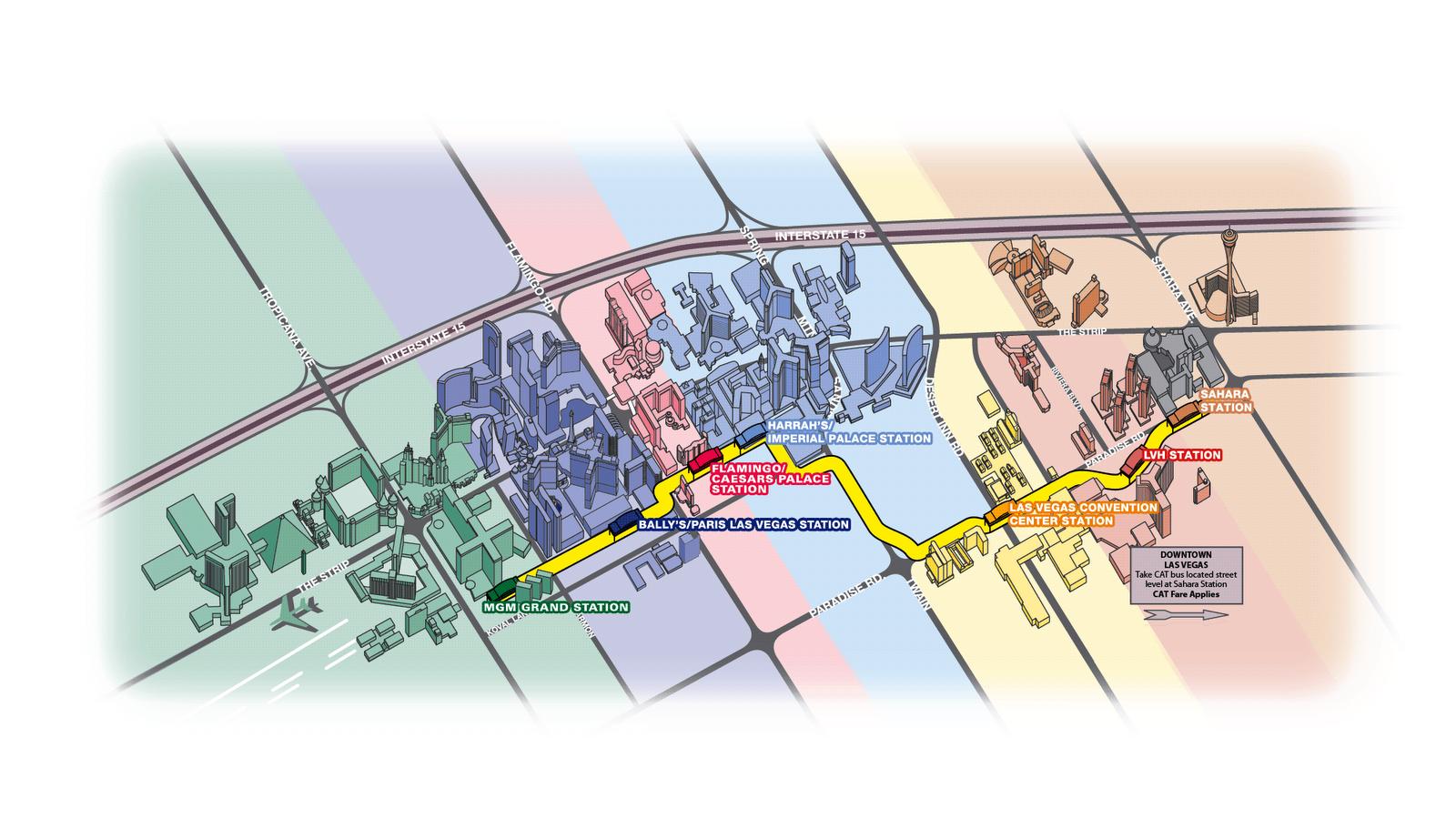Las Vegas Monorail Map