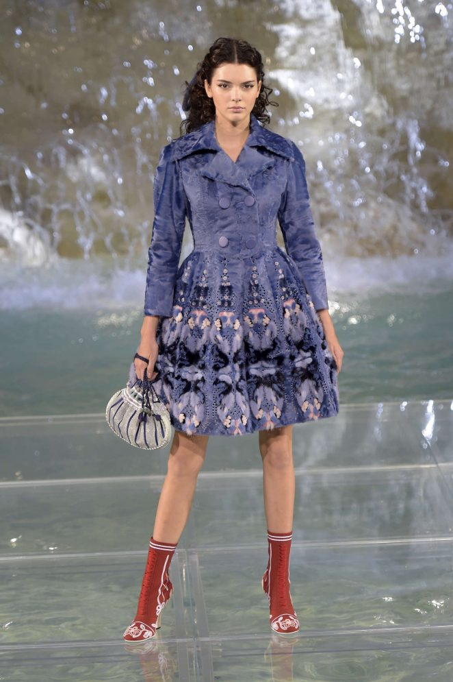 Kendall Jenner walks the Fendi 90th Anniversary Show in Rome