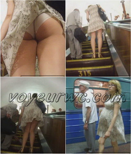 Upskirts 328-400 (Upskirts Voyeur Escalator - Upskirts clips with babes in short dresses)