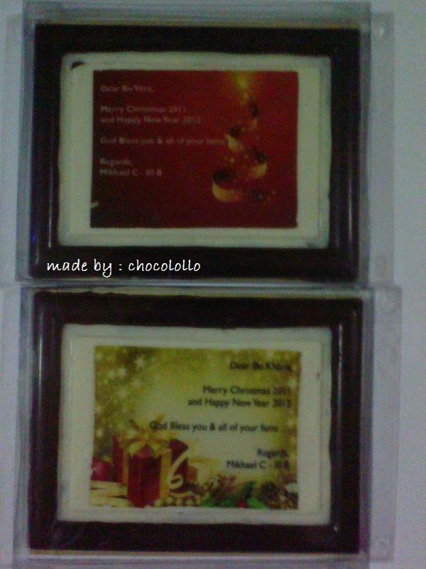 tema frame pigura terbuat dari cokelat