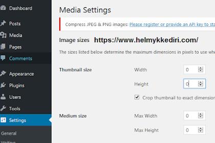 Cara mengatasi duplikat gambar pada wordpress