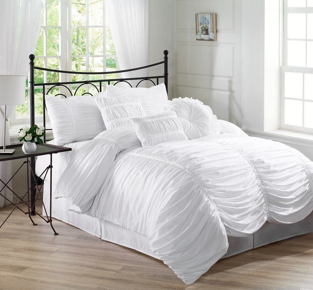 Ruched Bedding and Comforter Sets